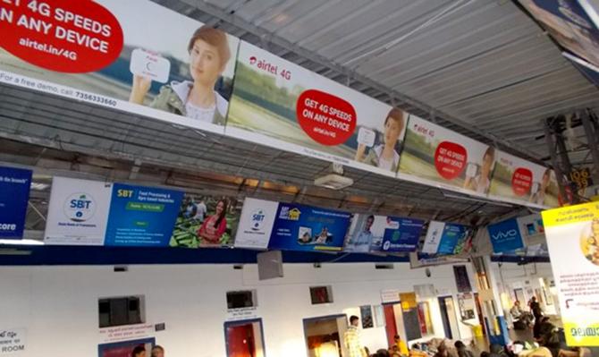 railway station advertising